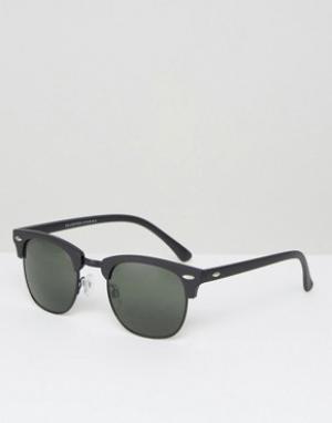 Солнцезащитные очки в стиле ретро -Черный Selected Homme