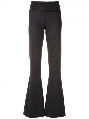 Расклешенные брюки со вставками Amir Slama. Цвет: черный