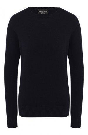 Кашемировый пуловер Giorgio Armani. Цвет: темно-синий