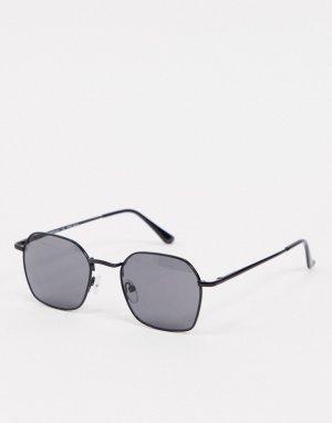 Черные солнцезащитные очки в крупной оправе -Черный AJ Morgan