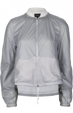 Ветровка Giorgio Armani. Цвет: серый