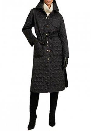Пальто LUISA SPAGNOLI. Цвет: черный
