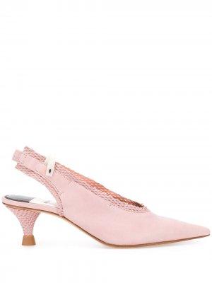 Сетчатые туфли-лодочки Premiata. Цвет: розовый