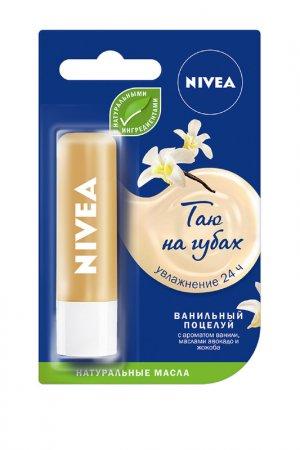 Бальзам для губ Ванильный дес NIVEA. Цвет: белый