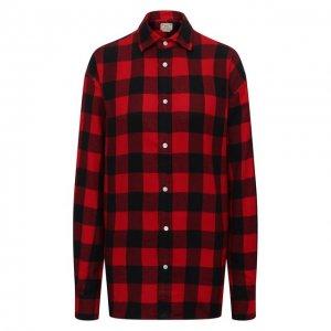Хлопковая рубашка Polo Ralph Lauren. Цвет: красный