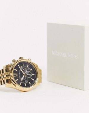 Золотистые наручные часы MK8286 Lexington-Золотой Michael Kors