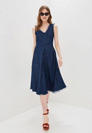 Платье Sisley. Цвет: синий