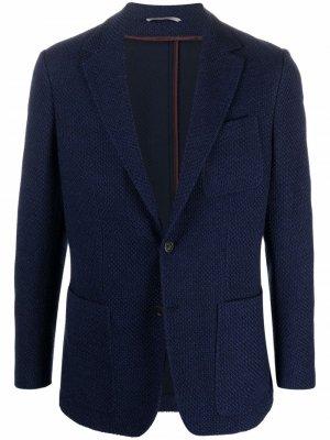 Однобортный пиджак Canali. Цвет: синий