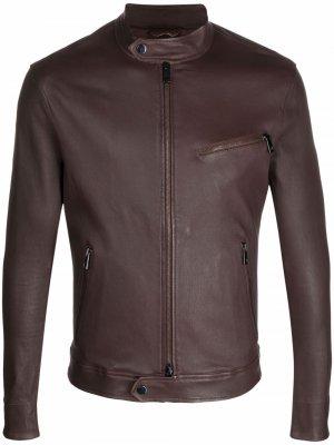 Куртка с воротником-стойкой Desa Collection. Цвет: коричневый