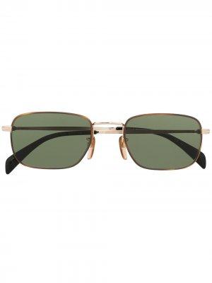 Солнцезащитные очки в прямоугольной оправе Eyewear by David Beckham. Цвет: золотистый