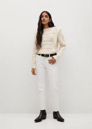 Прямые джинсы из хлопка - Mar Mango. Цвет: белый