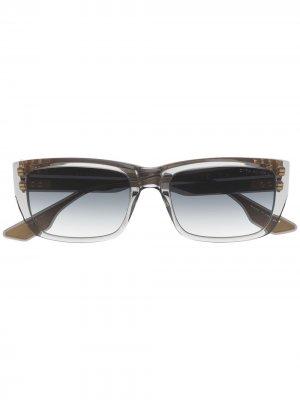 Солнцезащитные очки Alican трапециевидной формы Dita Eyewear. Цвет: серый