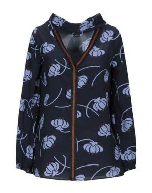 Блузка 1-ONE. Цвет: темно-синий