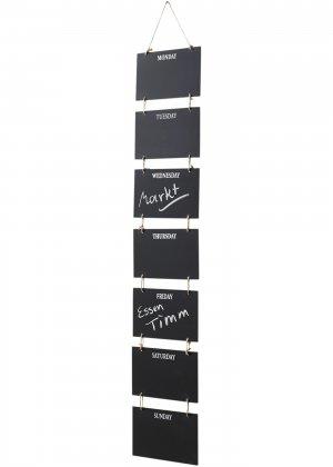 Доски для записей на всю неделю bonprix. Цвет: черный