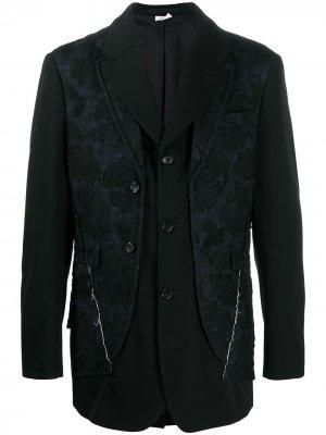 Многослойный пиджак Comme Des Garçons Homme Plus. Цвет: черный