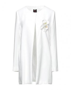 Легкое пальто HANITA. Цвет: белый