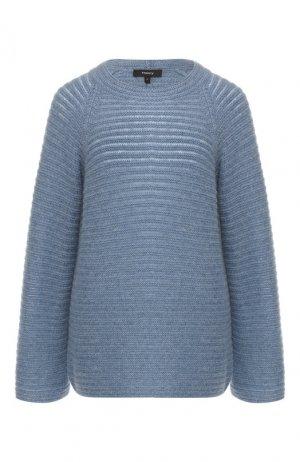 Кашемировый пуловер Theory. Цвет: синий