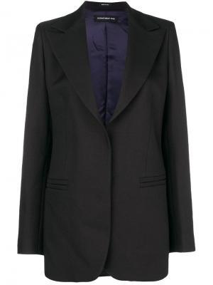 Блейзер со структурированными плечами Department 5. Цвет: черный