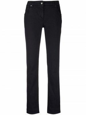 Rolled-edge straight-leg trousers Brunello Cucinelli. Цвет: черный