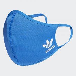 Набор из трех масок на лицо XS/S Athletics adidas. Цвет: синий