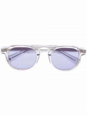 Солнцезащитные очки Harding X в круглой оправе Garrett Leight. Цвет: серый