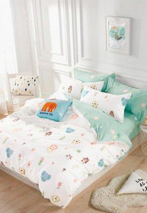 Постельное белье 1,5-спальное Dream Time. Цвет: белый