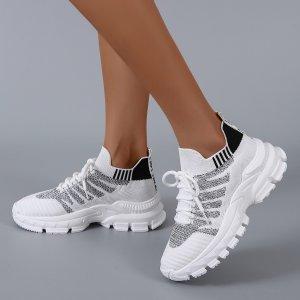 Обувь на шнурках спортивный SHEIN. Цвет: многоцветный