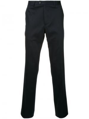 Классические брюки Gieves & Hawkes. Цвет: синий
