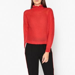Пуловер с воротником-стойкой из вязаного трикотажа RANG ESSENTIEL ANTWERP. Цвет: красный