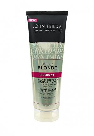 Кондиционер для волос John Frieda Sheer Blonde HI-IMPACT Восстанавливающий окрашенных. Цвет: прозрачный