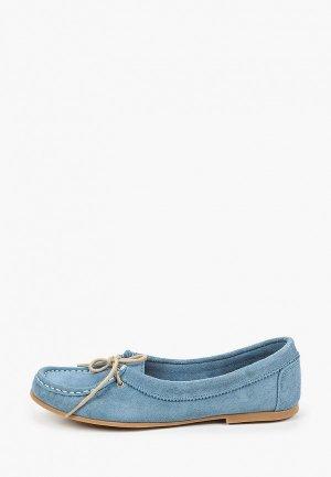 Мокасины Dali. Цвет: голубой