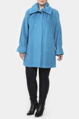 Пальто LANITA. Цвет: голубой