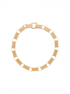 Массивное серебряное колье-цепочка I.V.I.. Цвет: золотистый