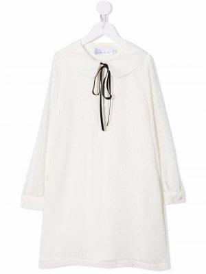 Oversized-collar long-sleeved dress Señorita Lemoniez. Цвет: белый