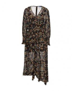 Платье длиной 3/4 IRO. Цвет: хаки