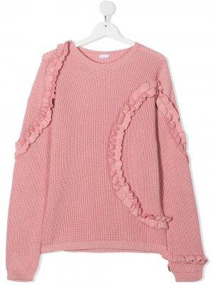 Джемпер с оборками Il Gufo. Цвет: розовый