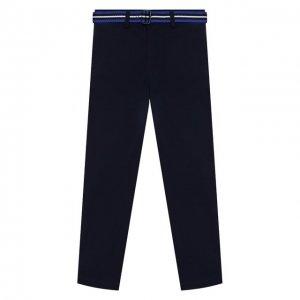 Хлопковые брюки Polo Ralph Lauren. Цвет: синий
