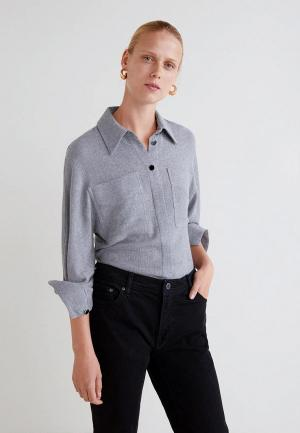 Блуза Mango - GARZA. Цвет: серый