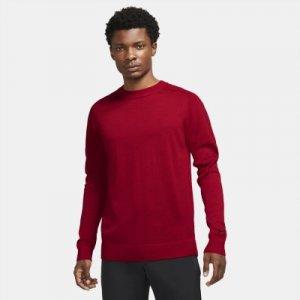 Мужской трикотажный свитер для гольфа Tiger Woods - Красный Nike