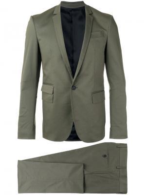 Однобортный костюм Les Hommes. Цвет: зелёный