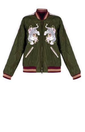 Куртка-бомбер Chloé. Цвет: зеленый