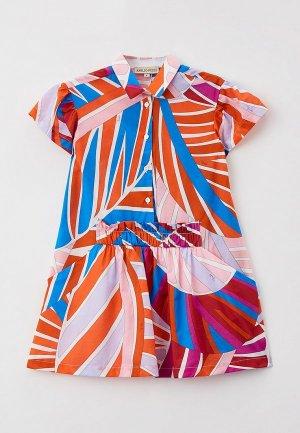 Платье Emilio Pucci. Цвет: разноцветный