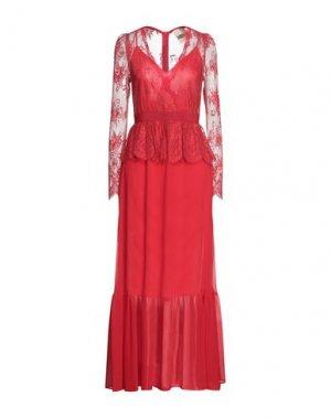 Длинное платье ANIYE BY. Цвет: красный
