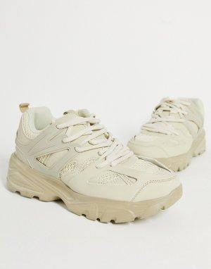 Бежевые спортивные кроссовки Unorthodox-Светло-бежевый Public Desire
