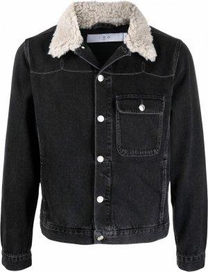 Джинсовая куртка с оторочкой из шерпы IRO. Цвет: черный