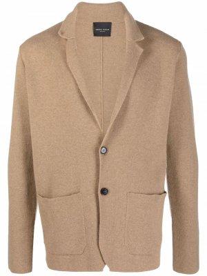 Пиджак тонкой вязки Roberto Collina. Цвет: нейтральные цвета