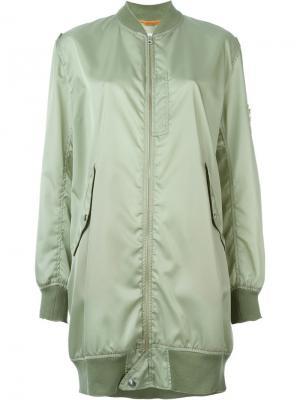 Куртка-бомбер свободного кроя Mm6 Maison Margiela. Цвет: зелёный