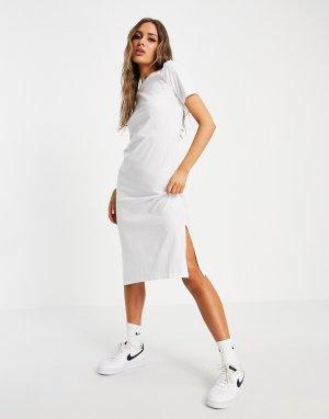Длинное платье-футболка белого цвета Otto-Белый Brave Soul