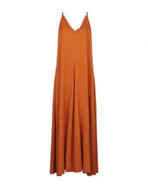 Длинное платье BEATRICE. Цвет: оранжевый