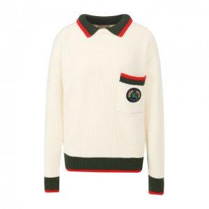 Пуловер из смеси шерсти и кашемира Burberry. Цвет: бежевый